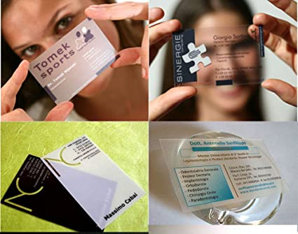 Amazon Com Custom Business Card Printing Plastic Transparent Pvc