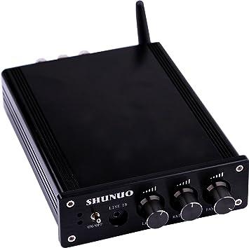 Yeeco Hifi Amplificador Mini Bluetooth 160W + 160W DC 12 / 24V Receptor Inalámbrico Bluetooth Estéreo