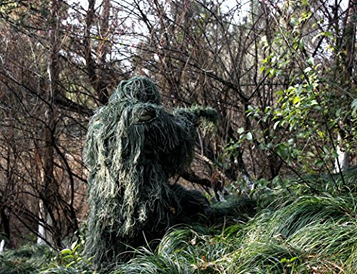 ABCAMO Adult Size Woodland Camouflage Ghillie Suit for Hunting And Outdoor Sport (Woodland Suit Camouflage)