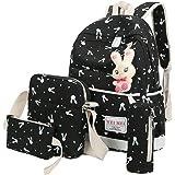 Aitena Canvas Shoulder School Bag Backpack+Shoulder bag+ Handbag+Pencil case