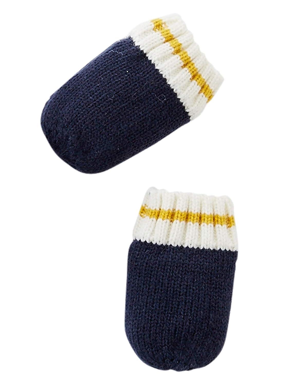 b94bb20a38b VERTBAUDET Ensemble bonnet + écharpe + moufles tricot doublé bébé garçon  Marine foncé 3 6M - 60 67CM  Amazon.fr  Bébés   Puériculture