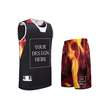 ec1778636 Image Unavailable. Image not available for. Color  SANHENG Customize  Basketball Jersey Set with Pocket