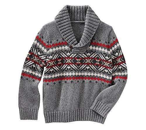 (OshKosh B'Gosh Baby Boys' Fair Isle Pullover Sweater 18 Months)