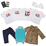 Adora Amazing Girls Travel Outfits, Suitcase, Passport & Cell Phone for 18 Dolls (Amazon Exclusive)