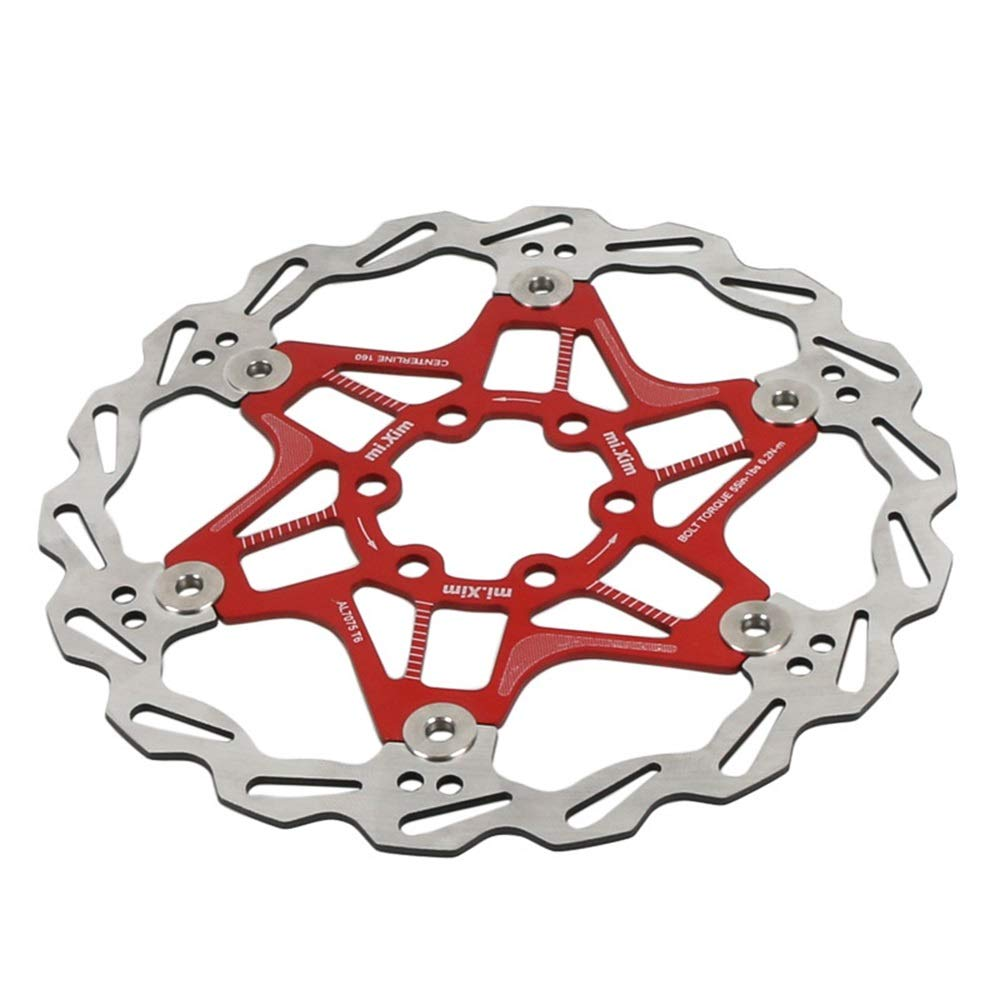 TAESOUW-Sports 160mm Ultra Light Color Floating Disc Brakes Mountain Brake Disc Six Nail Discs by TAESOUW-Sports