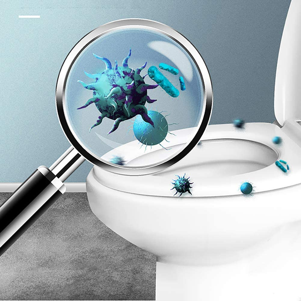 Queta 60PCS Fundas WC Desechables Impermeables Funda Asiento Inodoro para Ba/ños P/úblicos WC Protector Resistente al agua para Ba/ño//Viaje//Hospital//Hogar Cobertores de Asiento de inodoros
