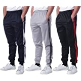 Real Essentials 3 Pack: Men's Active Athletic Casual Jogger Sweatpants with Pockets