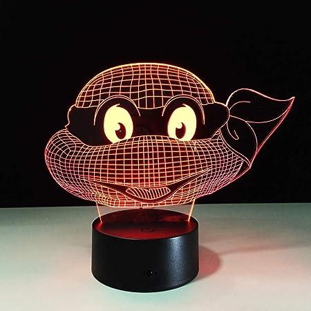 Mutant Ninja Turtles Lámpara LED 7 Colores cambiantes ...