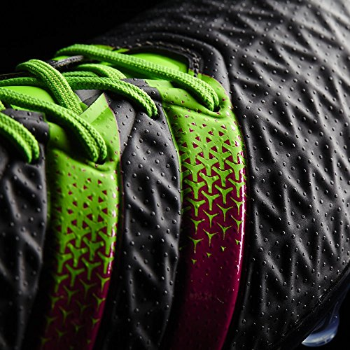 adidas Herren Fussballschuhe ACE 16.2 FG/AG CBLACK/SGREEN/SHOPIN 43 1/3