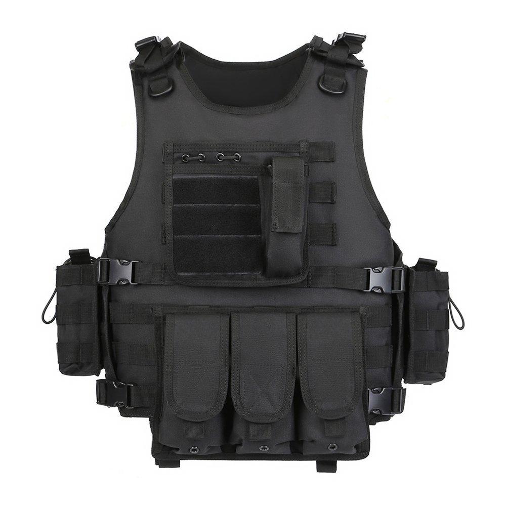 GZ XINXING Black Tactical Airsoft Paintball Vest (Black) by GZ XINXING