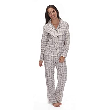 Forever Dreaming Ladies Flannel Cotton Button Down Pajama Set at ... 21308a11e