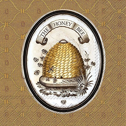 Celebrate the Home Lori Siebert 3-Ply Paper Luncheon Napkins, The Honey Bee, 20 Count
