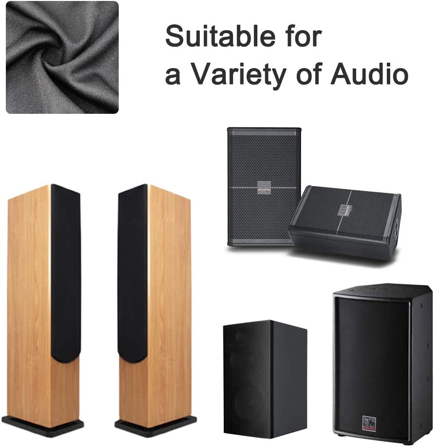 63 x 40 in // 160 x 100 cm Large Speakers Black Tulle Speaker Grill Cloth Stereo Fabric Replacement for Home Speakers Stage Speakers and KTV Boxes Repair
