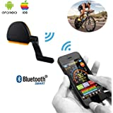 Wosports Bluetooth Bike Computer RPM Speed & Cadence Sensor Wireless Bicycle Speedometer Cycling Odometer APP Control(IOS and Android)