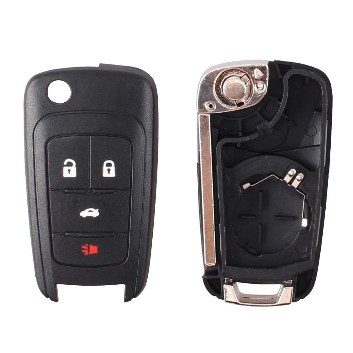Heart Horse 5 Button Keyless Entry Remote for Camaro Cruze Equinox Malibu Sonic Spark Volt No Chip 2010-2013 HuihuangAMZus sku1393
