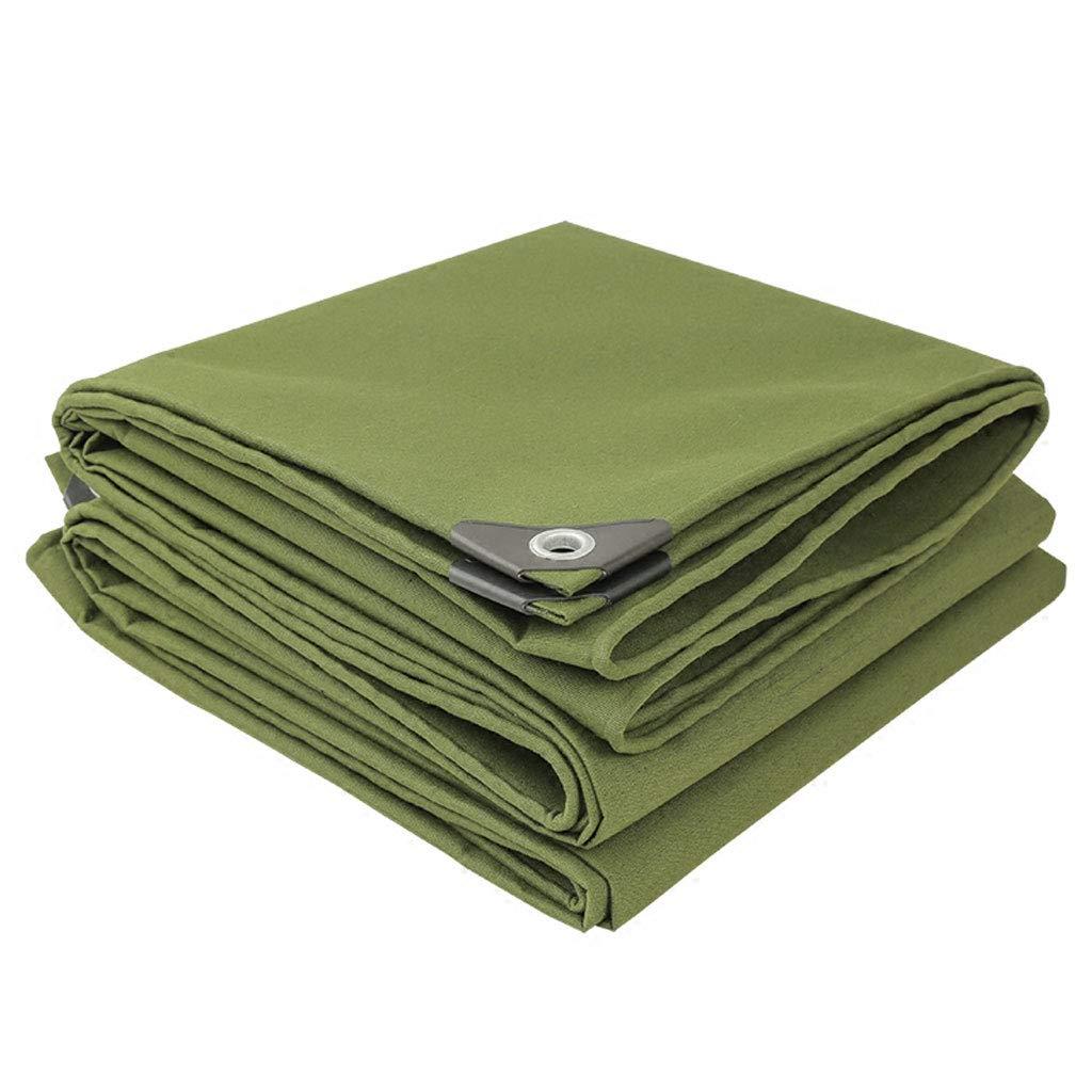 QLLYB Im Freien Starke Plane Armee grün Leinwand Plane Sonnenschutz Tuch Sonnencreme Isolierung Markise Tuch für militärische Tuch, eine Vielzahl von Größen (größe   2M4M)