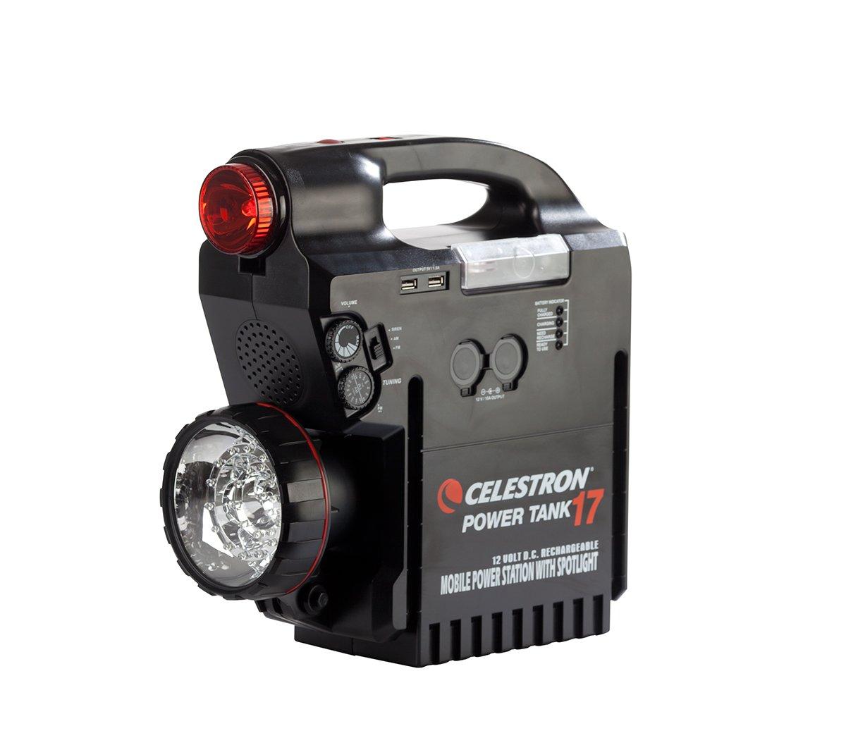 Celestron Celestron Rechargeable Power Supply PowerTank 17, 12v 17Ah, Black (18777) by Celestron