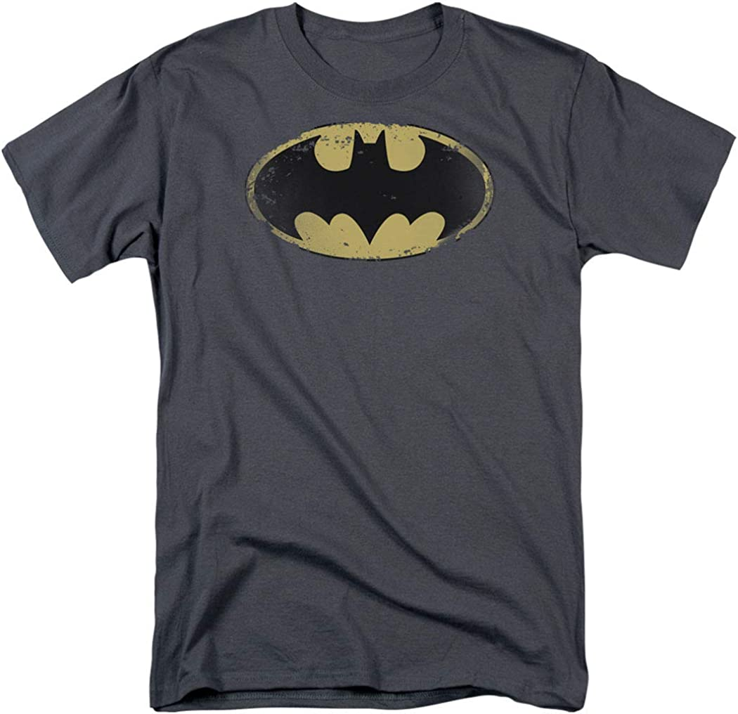 Batman Logo Distressed Vintage DC Comics T Shirt & Stickers