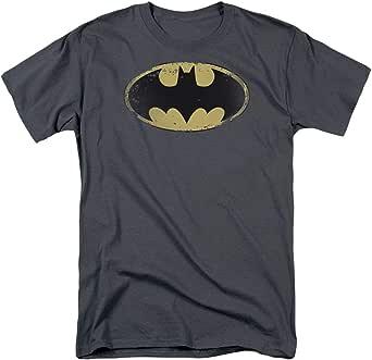 Popfunk Batman Logo Distressed Vintage DC Comics T Shirt & Exclusive Stickers