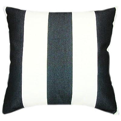 TPO Design, Sunbrella Cabana Classic Indoor/Outdoor Striped Patio Pillow 16x16: Home & Kitchen
