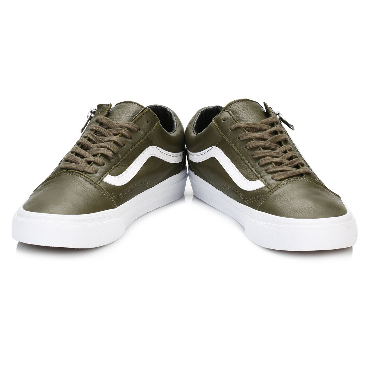 8ddf9304c7 Vans Mens Ivy Green True White Old Skool Zip Trainers  Amazon.co.uk  Shoes    Bags
