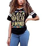 ea7d721b0869 ZMLIA Womens Black by Popular Demand Print Hoodies Hooded Long Sleeve Crop  Sweatshirts