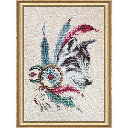 cross stitch kit wolf