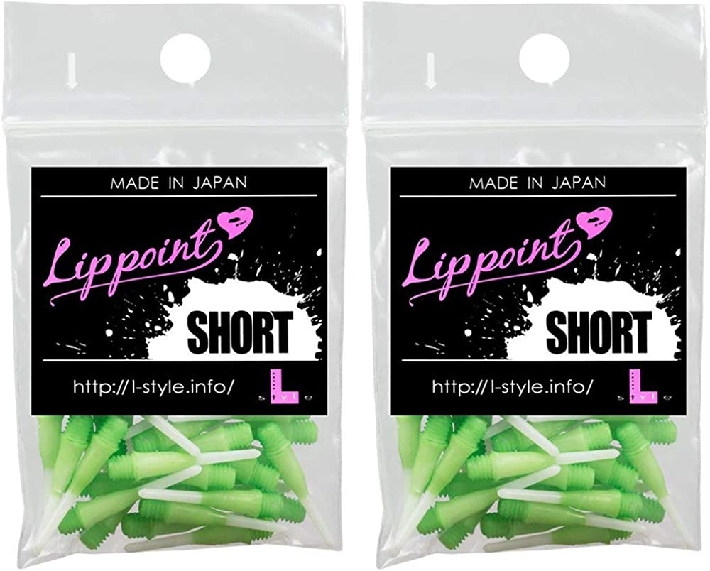 LSTYLE Dart Tips: Short Lippoint - Plastic Soft Dart Points - Two Tone Ombre Gradient Color