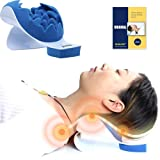 REARAND Neck and Shoulder Relaxer,Neck Pain Relief,Tension Headache Relief,Neck Support,Neck Traction Pillow Chiropractic Pil