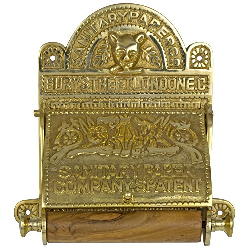 Old English Brass Toilet Tissue Holder - The SANITARY PAPER Fixture old English Style Brass Toilet Paper Holder Replica