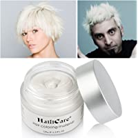 HailiCare Grandpa White Hair Wax 4.23 oz, Professional Hair Pomades, Natural White Matte Hairstyle Max for Men Women, New Glass Jar