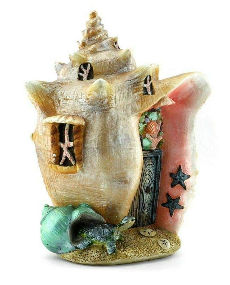 Mini Fairy Garden House - Miniature Fairy Garden Mermaid Shell House - Conch Condo