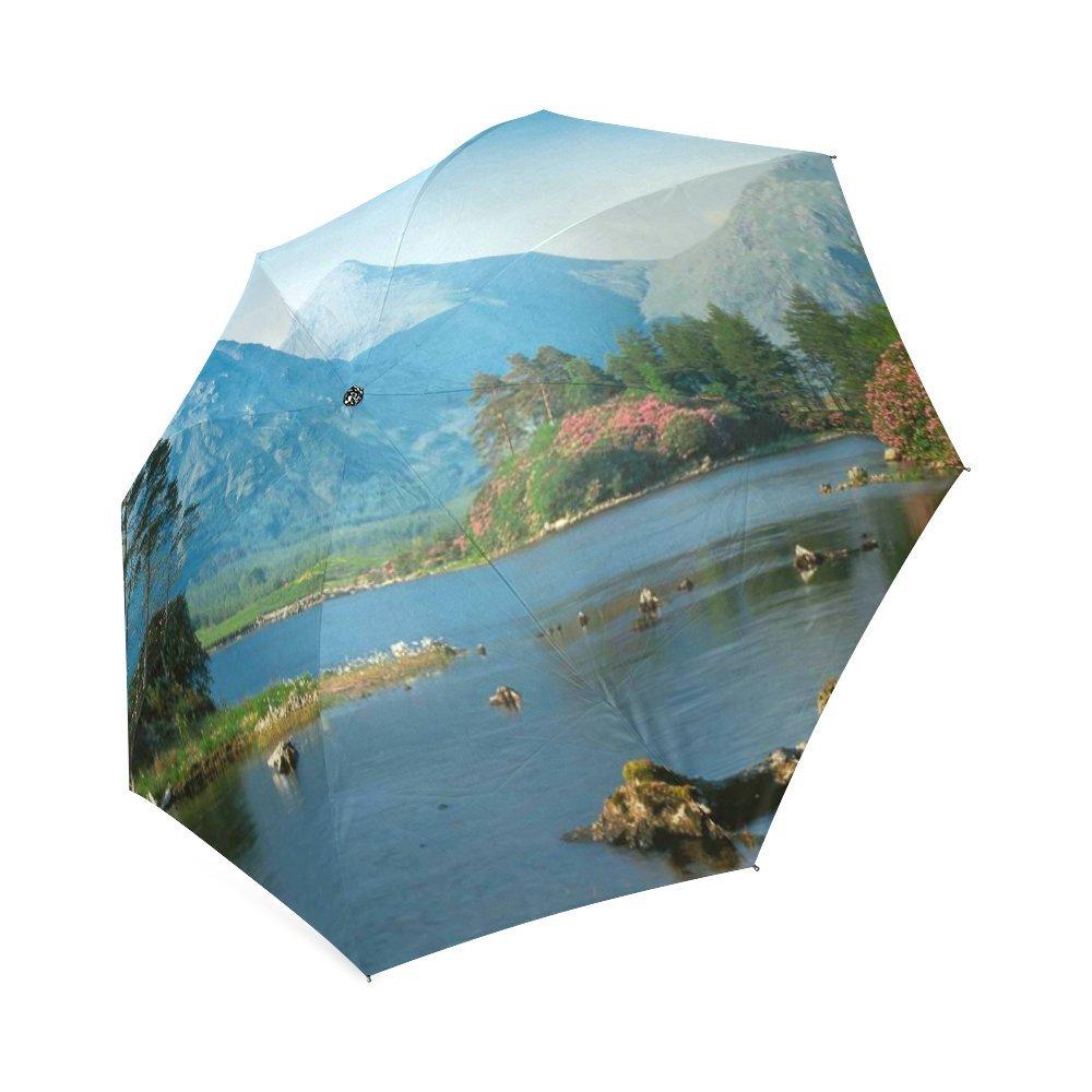カスタマイズUnique Scotland Landscape折りたたみ雨傘/パラソル/太陽傘 B076F4BXN9