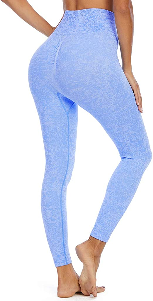 Yaavii Damen Sport Leggings Lange Blickdicht Sporthose Yogahose Fitnesshose Streetwear Strumpfhosen mit Hohe Taille