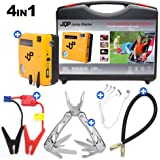 Car Jump Starter Air Compressor Pump 600A Phone power bank charger & Air Pump USB Ports