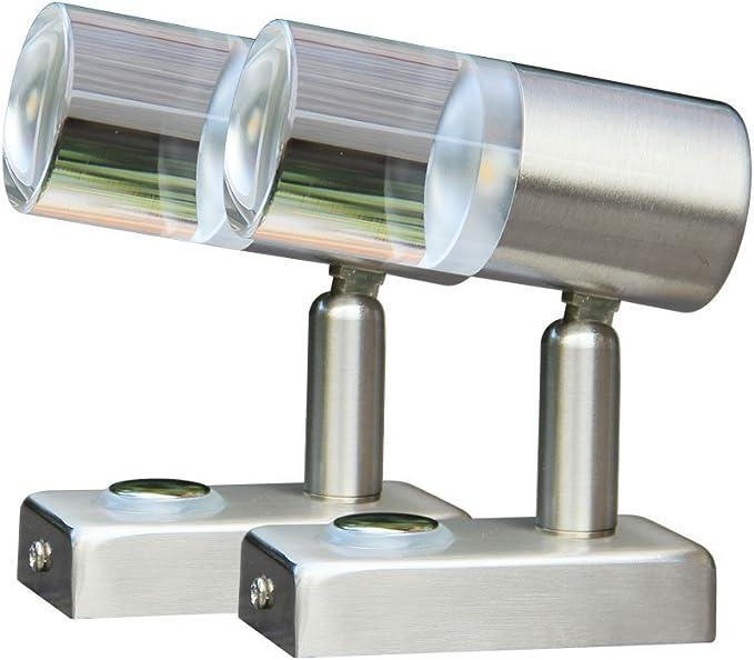 Lampe LED Classe /énerg/étique A+ Camping-Cars et Bateaux Marins blanc chaud // bleu LIGHTEU 12V 2,6 W Deux Couleurs Yachts du B/âtiment ou de Plafond avec Touch Interrupteur et Tactile Variateur pour les Caravanes