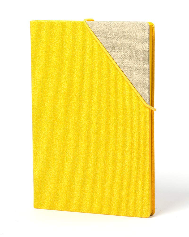 Papacasso Leather Journal Hardcover Notebooks and Journals – Dotted Notebook Bullet Journal Notebooks and Journals to Write in for Women Handcrafted Italian Leather Hardcover Notebook Journal(Yellow)