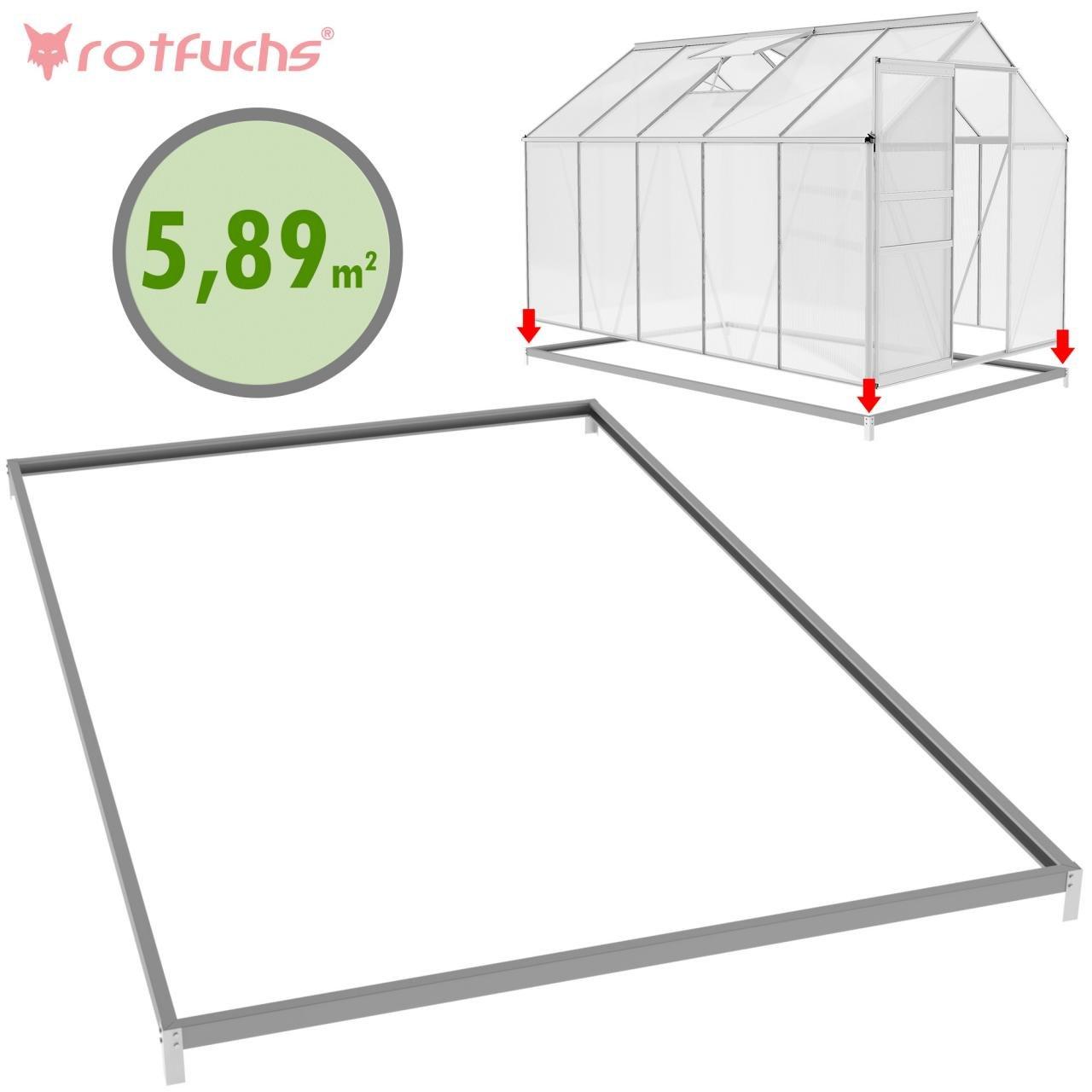 Rotfuchs/® GH03.ACCES01 Fundament f/ür Gew/ächshaus 3,61 m/² 1,90 m x 1,90 m
