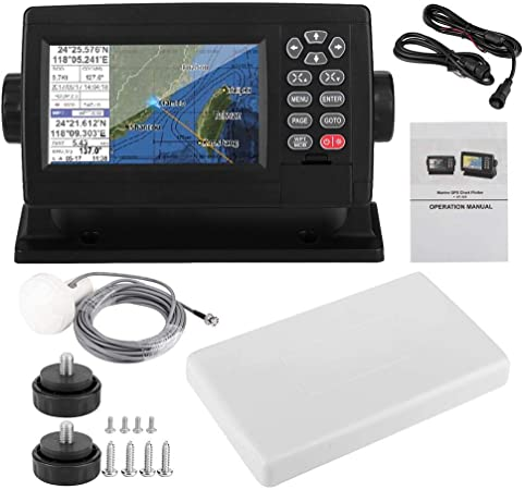Pantalla LCD en color de 5 pulgadas Navegador GPS satelital marino Carta de barco de posicionamiento de modo dual