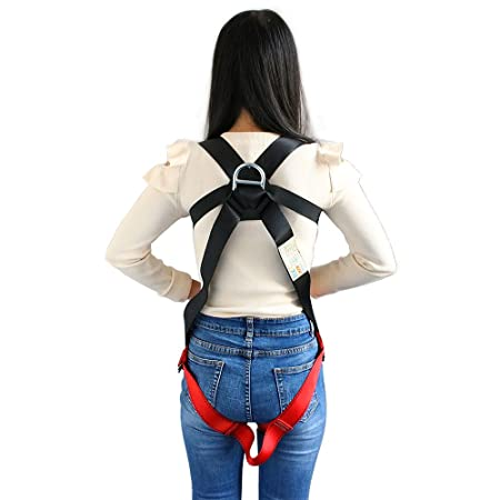 Xben Kids Full Body Harness, Youth Safety Comfort Zipline Climbing Harness Belts for Outdoor Expanding Training, Caving Rock Rappelling Equip