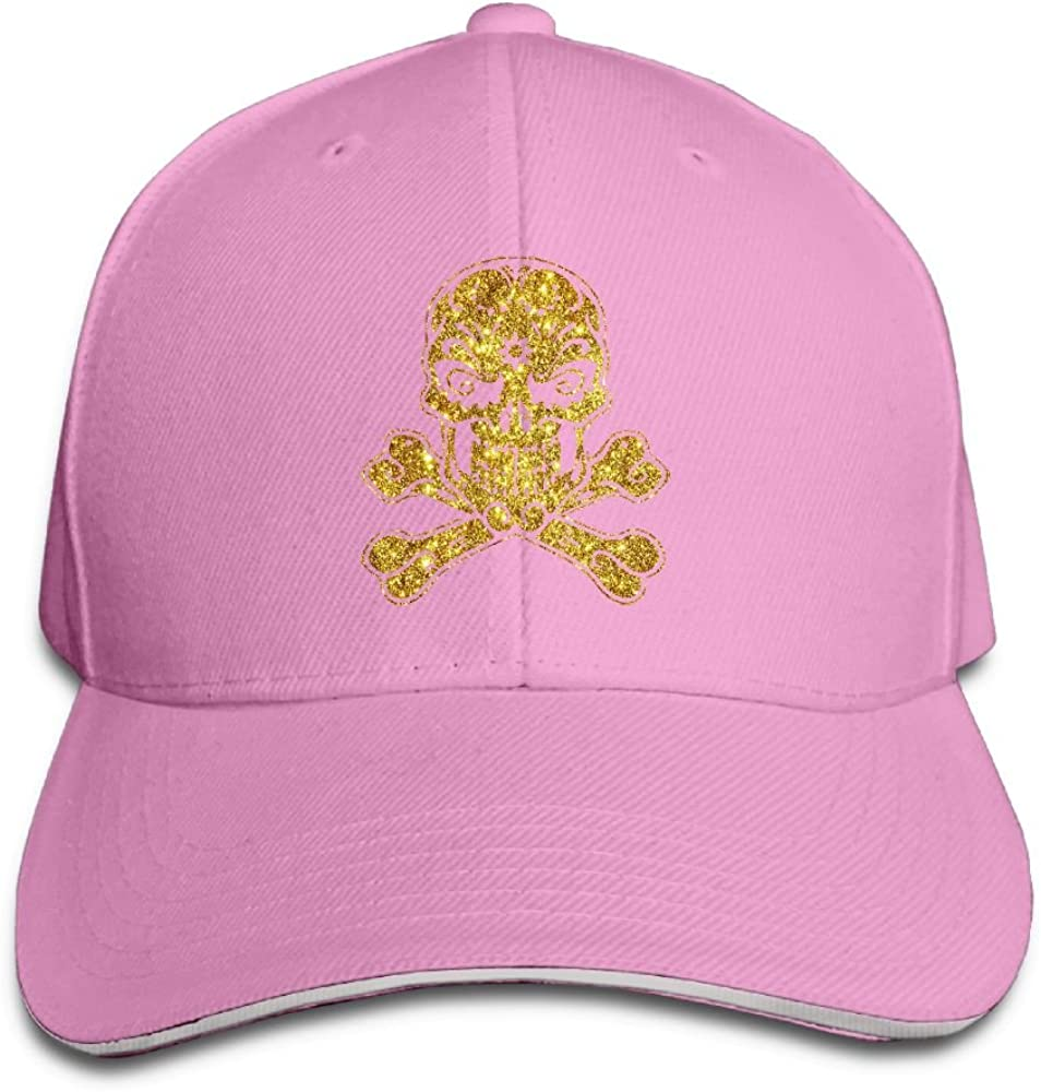 RSUD WESR Gold Sugar Skull Day of The Death 100/% Cotton Hat Men Women Adjustable Baseball Cap Hat