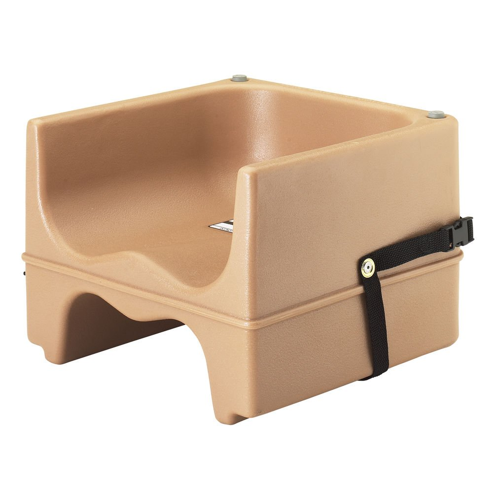 Cambro Booster Dual Seat With Strap 4 Pack Coffee Beige