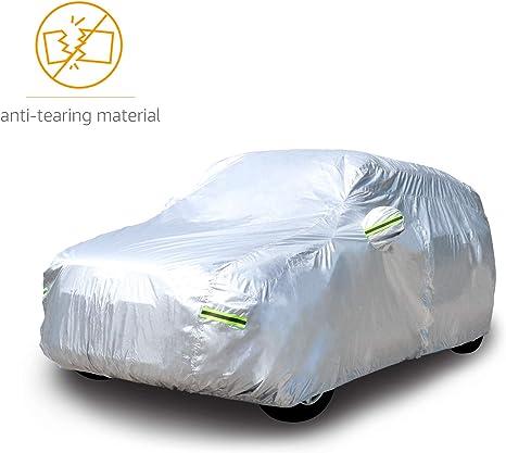 Basics per SUV fino a 480/cm in tessuto Oxford 150D resistente alle intemperie Telo copriauto argentato