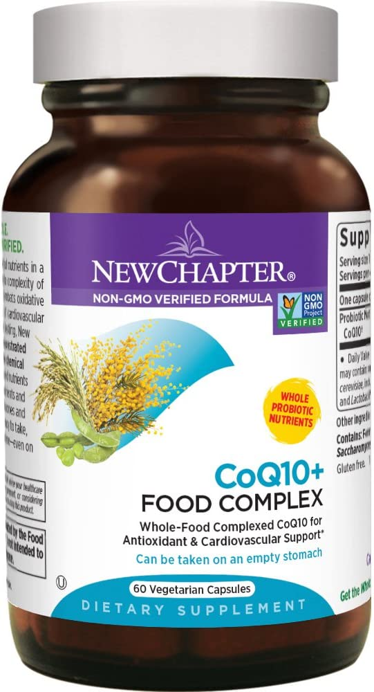 New Chapter CoQ10 Supplement – 60ct 2 Month Supply Coq10 Food Complex for Antioxidant and Cardio Support Gluten Free Non-GMO Ingredients