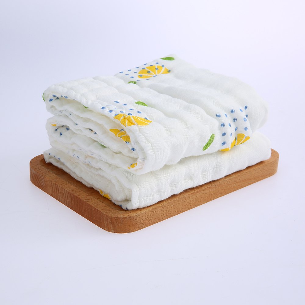 10in White homese 2Pcs Baby Bath Towel Washcloth 100/% Muslin Cotton Gauze Water Absorbent Super Soft Baby Blanket For Baby /& Adult 6 Layers 20