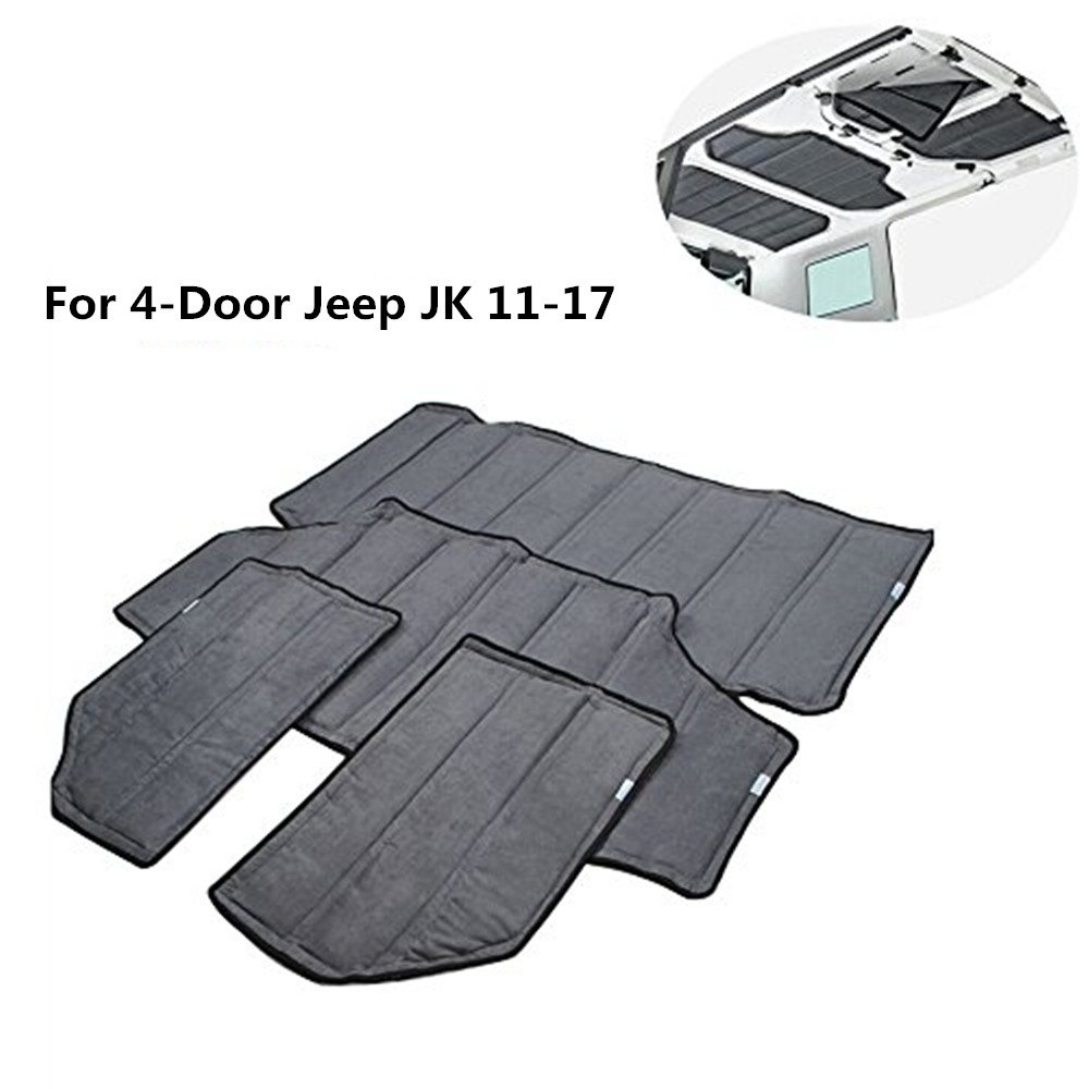 Lantsun 4x Hardtop Sound Deadener Headliner Hinges Heat Insulation Insulation For 4-Door Jeep Wrangler JK 11-17(J180) Lantsun Group Co. Ltd.