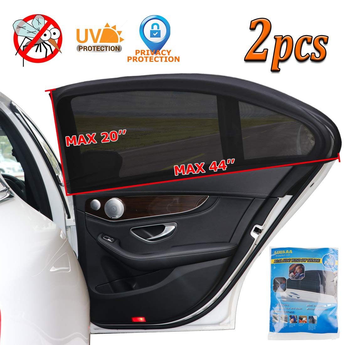 Car Sunroof Sunshade with Carry Bag Magnetic Installation Sunroof Mosquito-Net for Anti-Bugs Black Block The UV