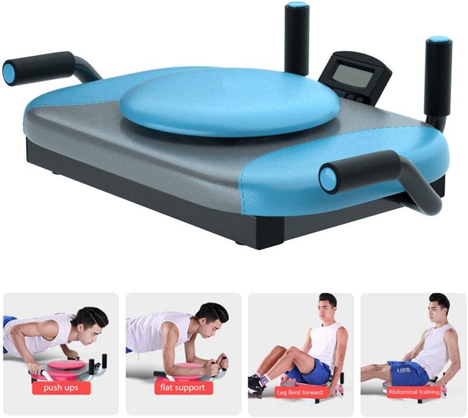AB Aptitud Abdominal ejercitador máquina Crunch Trainer Entrenamiento portátil para el Gimnasio en casa Lagartijas Abdominal máquina de Entrenamiento,Azul