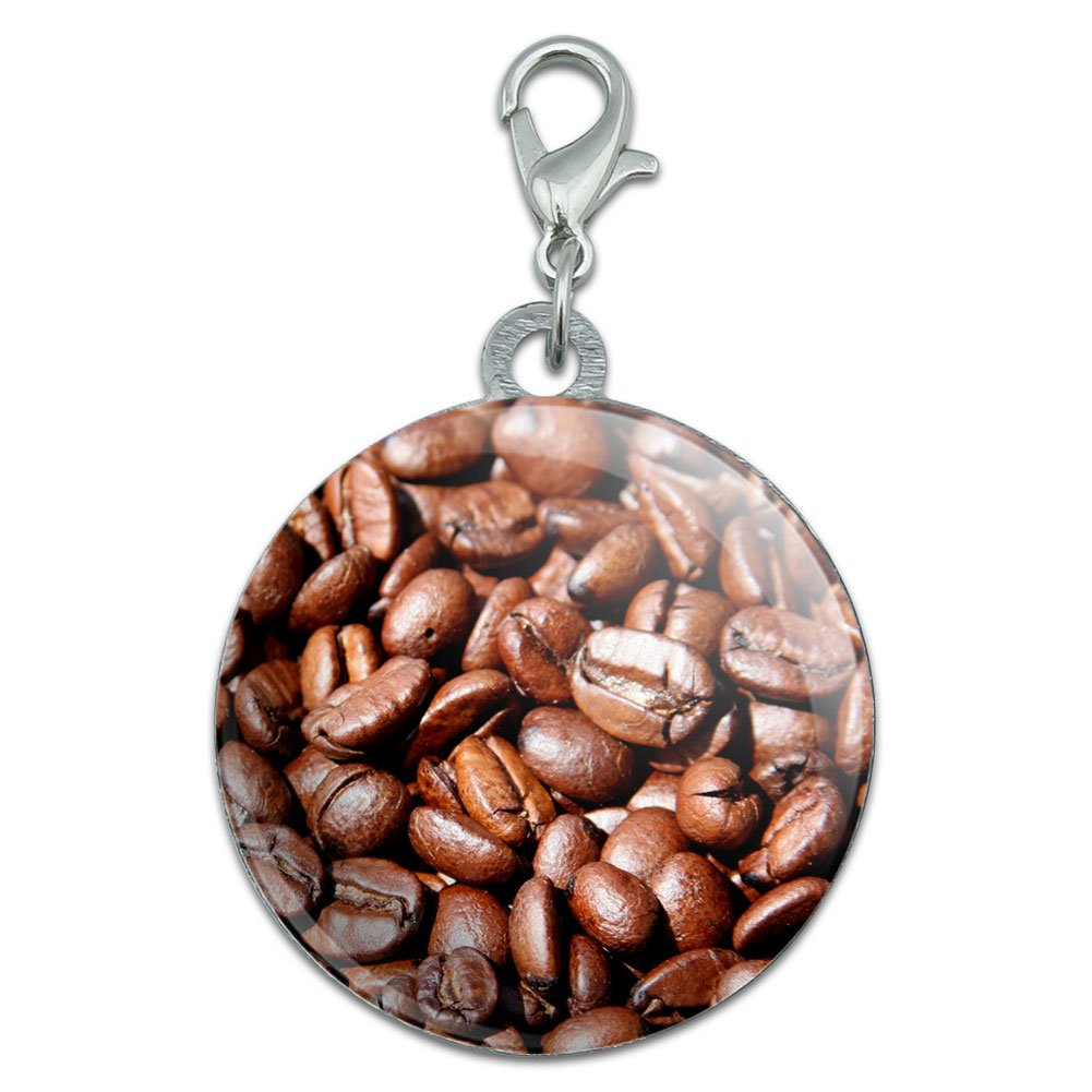 Coffee Beans Stainless Steel Pet Dog ID Tag