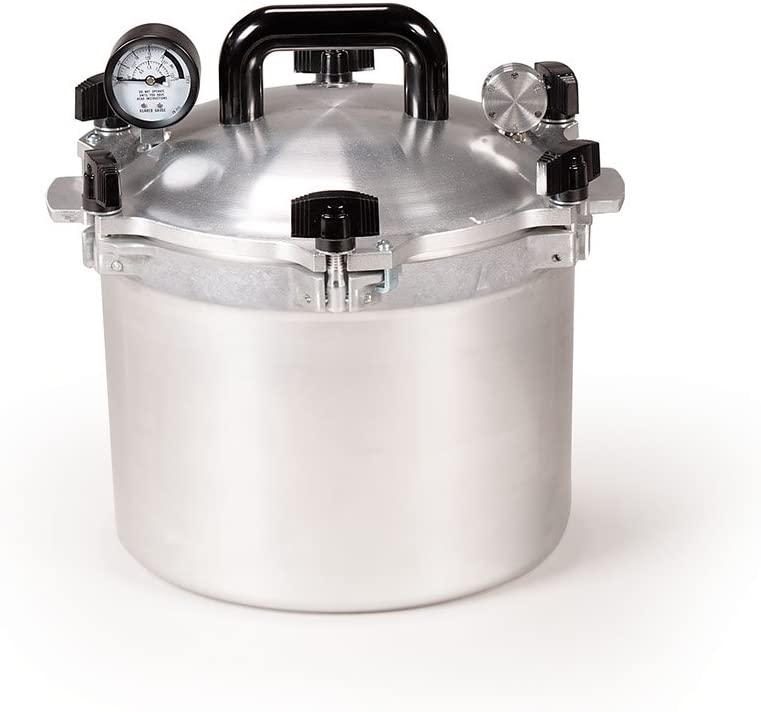All American Canner Pressure Cooker, 10.5 qt, Silver